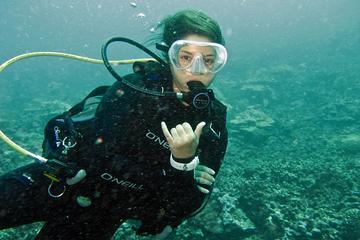 Um mergulho no tanque para mergulhador certificado