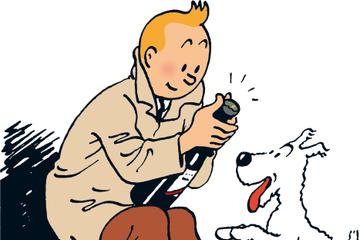 Excursão sobre as histórias em quadrinhos de Tintim no Museu Hergé...