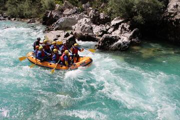 Rafting sur la rivière Soca