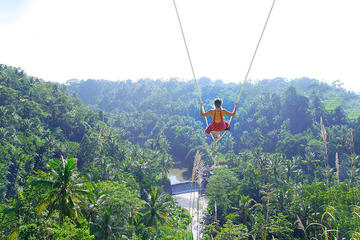 Bali Swing Combine with White Water Rafting
