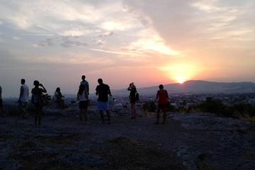 Elektroradtour bei Sonnenuntergang in Athen