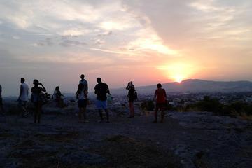 Excursion au coucher du soleil d'Athènes en vélo électrique