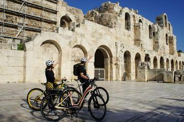 Tour di Atene in bici elettrica per piccoli gruppi di 2 ore e mezza