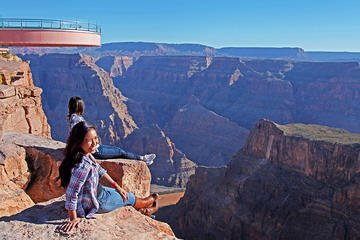 Day Trip Skip the Line: Grand Canyon Skywalk Express Helicopter Tour near Las Vegas, Nevada