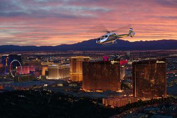 Solnedgang og luksus-helikoptertur...