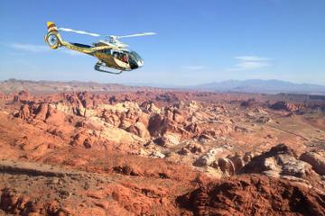 VIP luksus-helikoptertur over den vestlige kant af Grand Canyon og...