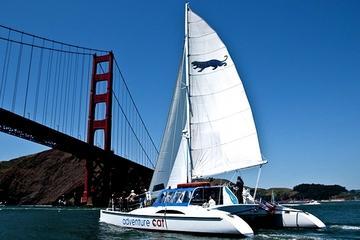 Cruzeiro velejando pela baía de São Francisco