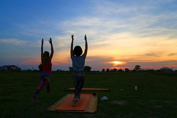 Yoga Sunset at Preah Garden & Dinner show(No Guide)