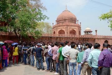 Evite las colas Taj Mahal y Fuerte de...