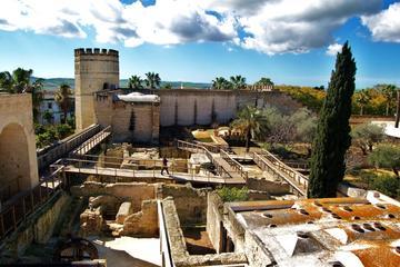 Balade dans Jerez avec l'Alcazar et l'entrée de la cathédrale