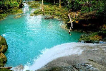 Private Blue Hole and Konoko Falls Park Combo Tour