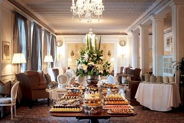 Chá da tarde no hotel Mount Nelson da...