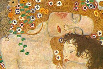 Combinado de Viena sobre Gustav Klimt: Palacio de Belvedere y tarjeta...