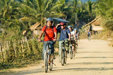 Small-group Easy Biking Tour Around Rural Luang Prabang