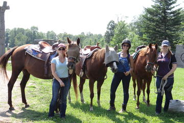 Day Trip Horseback Trail Ride and Lesson near Ottawa, Canada