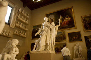 行列をスキップ:フィレンツェアカデミア美術館入…