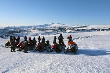 Snowmobiling on Mýrdalsjökull Glacier...
