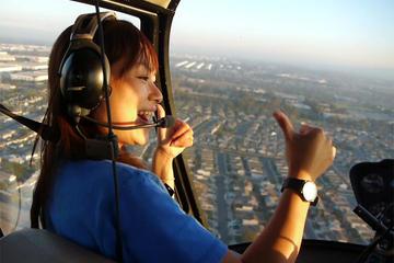 Lange VIP-helikoptervlucht over Los ...