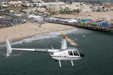 Los Angeles Beach Cities Helicopter Flight 2017