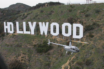 Vol en hélicoptère au-dessus d'Hollywood Strip