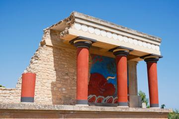 Visite de l'antique palais de Cnossos