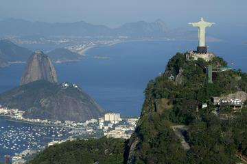 Christ Redeemer and Maracanã with Sugar Loaf
