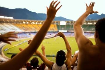 Partida de futebol no Rio de Janeiro