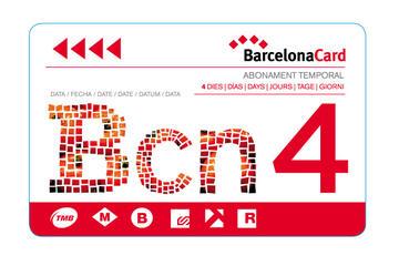 Cartão de Barcelona com guia