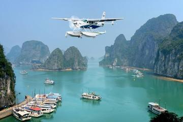 Das ultimative Halong-Bucht-Erlebnis: Fahrt mit Wasserflugzeug und...