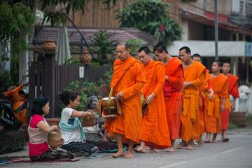 MORNING ALMSGIVING FROM LUANG PRABANG