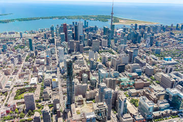 Tour de 14minutes en hélicoptère au-dessus de Toronto