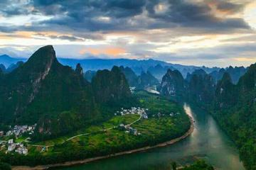 Hiking along Li river and trail in the mountains
