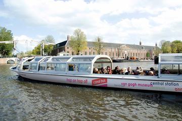 Viagem de canalbus panorâmico pelo Canal de Amsterdã com ingresso...