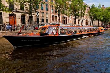 Crucero rápido por los canales de Ámsterdam desde la estación central...