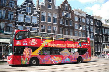 Hop-on-Hop-off-Trolley-Tour durch Amsterdam mit optionaler Kanalfahrt