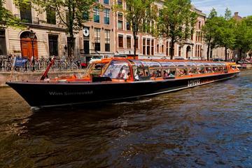 Kanalkryssning i Amsterdam med snabbinträdesbiljett