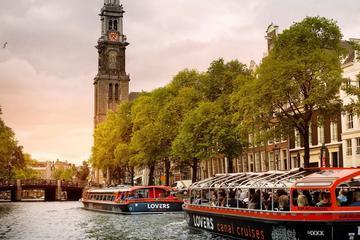 Rondvaart door Amsterdam in half-open salonboot