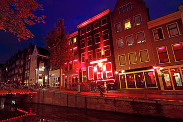Rundturspromenad i Amsterdams Red Light District