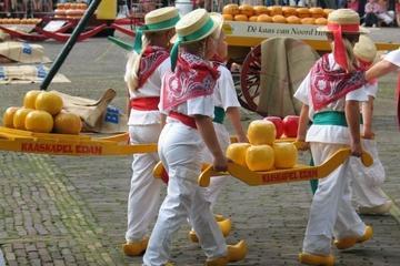 Viagem de meio dia ao mercado de queijos de Alkmaar e aos moinhos...