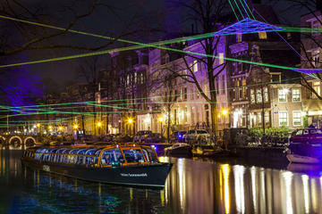 Water Colors-Grachtentour beim Lichtfestival in Amsterdam