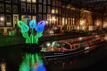 Water Colors-Grachtentour beim Lichtfestival in Amsterdam