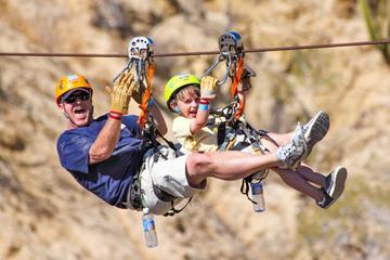 Aventura en tirolinas gigantescas en Los Cabos