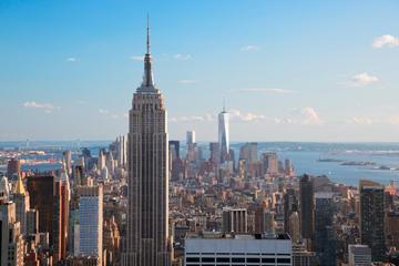 Sightseeingtour met gids door New York in een luxueuze bus