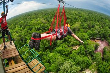 Cenote Maya  and Extreme Excursion Zipline ATV Tarzan jump and Cenote Maya