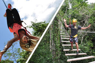 Extreme Excursion Zipline ATV Tarzan jump and Cenote Maya