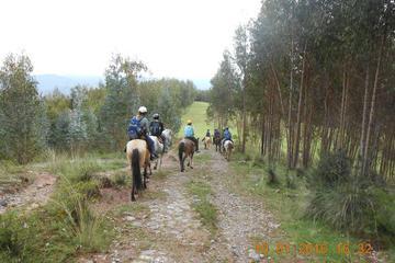 Excursão de passeio a cavalo de meio dia saindo de Cusco