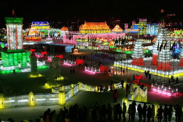 Seasonal Offer: Longqing Gorge Ice Lantern Festival with Mongolian Hot Pot Dinner