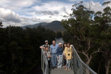 Tahune Airwalk aktiver Tagesausflug ab Hobart mit Hastings-Höhlen