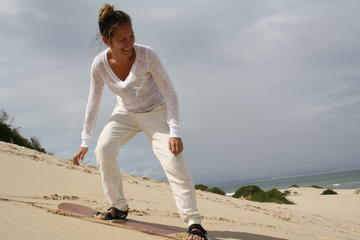 Sandboarding in Jeffreys Bay