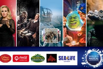 Big Adventures 6 Attraction Ticket Including Madame Tussauds, SEA LIFE Aquarium, London Eye, Shrek\'s Adventure! London and The London Dungeon